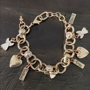 HOPE PRAY BELIEVE ANGEL CHARM BRACELET